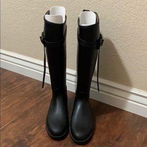 Black Burberry Rainboots